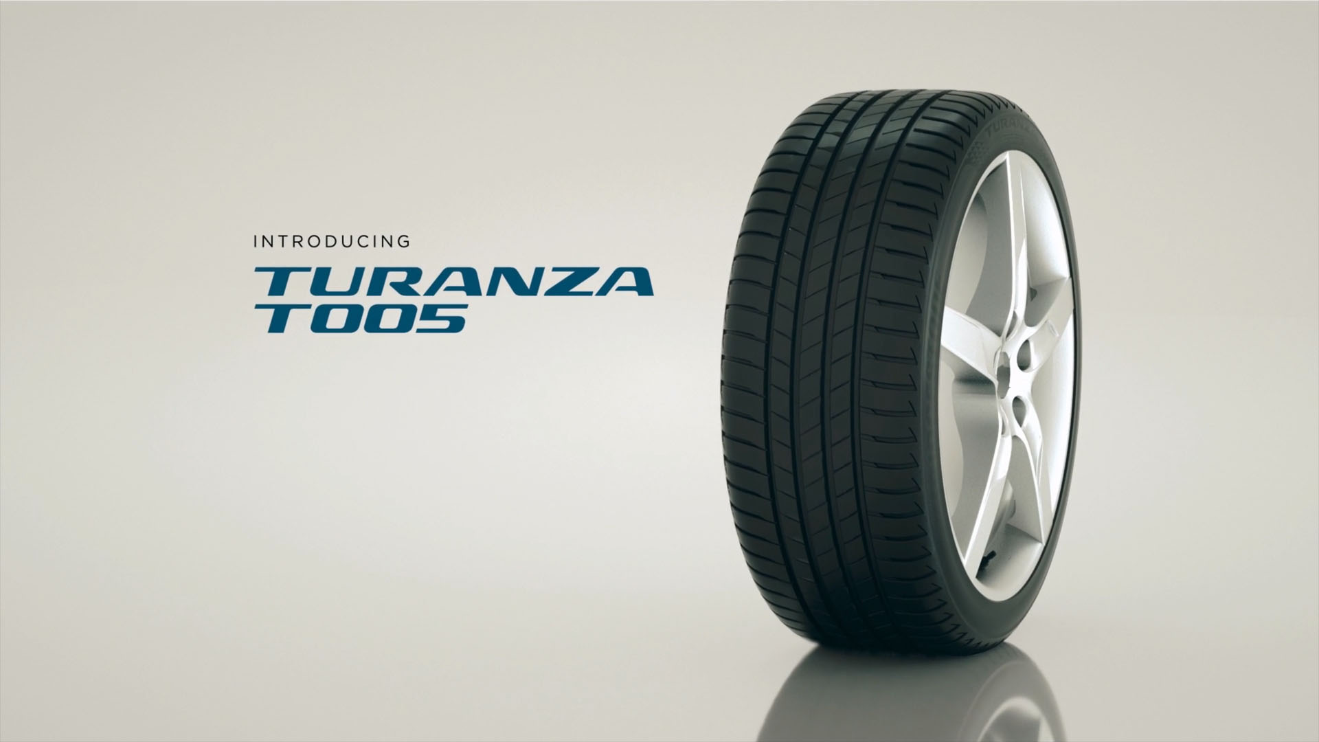 Bridgestone Turanza T005 Tyre Sizzle White Background