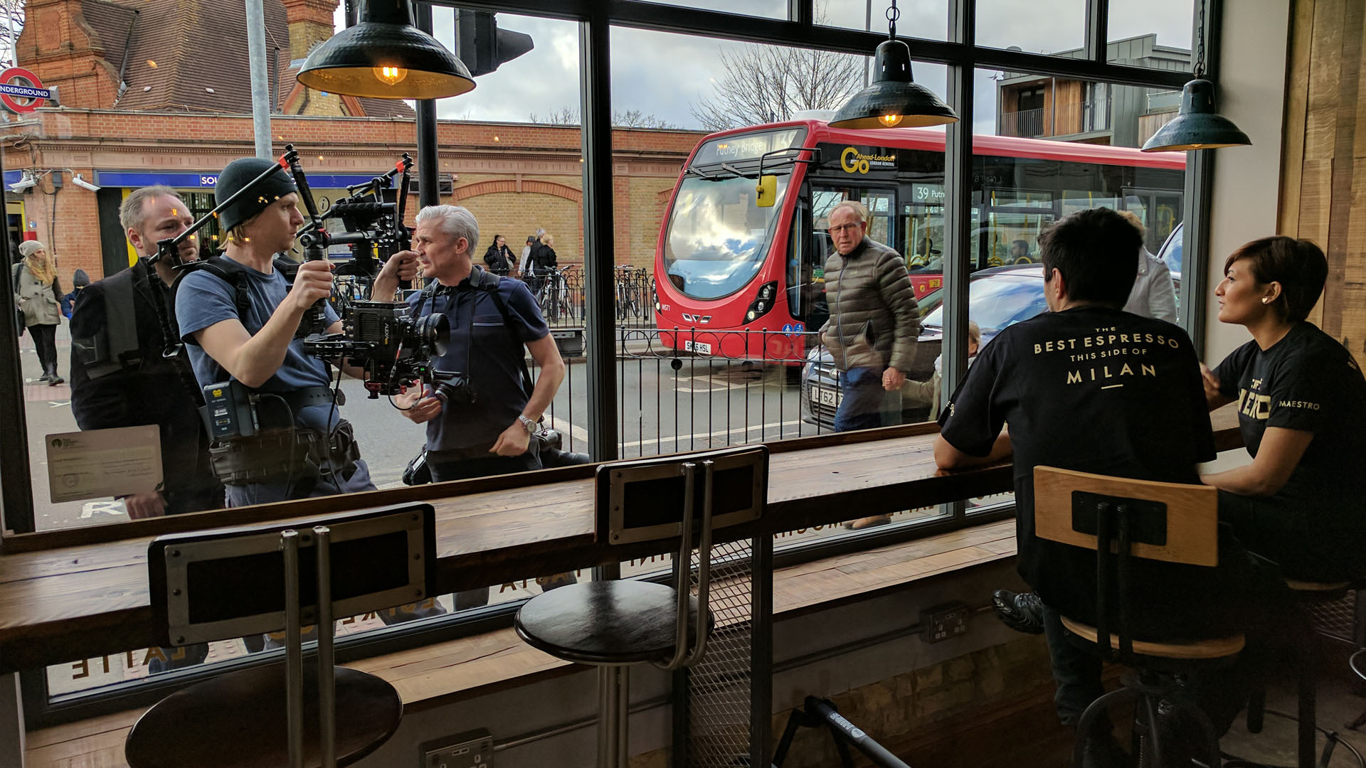 Caffè Nero UK Recruitment Campaign Behind the Scenes Window