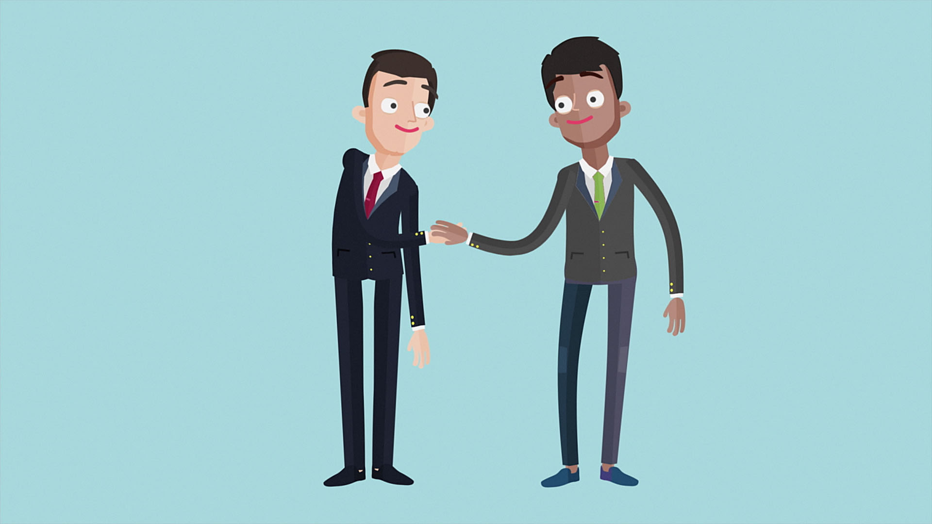 Traffic Penalty Tribunal Shaking Hands Animation