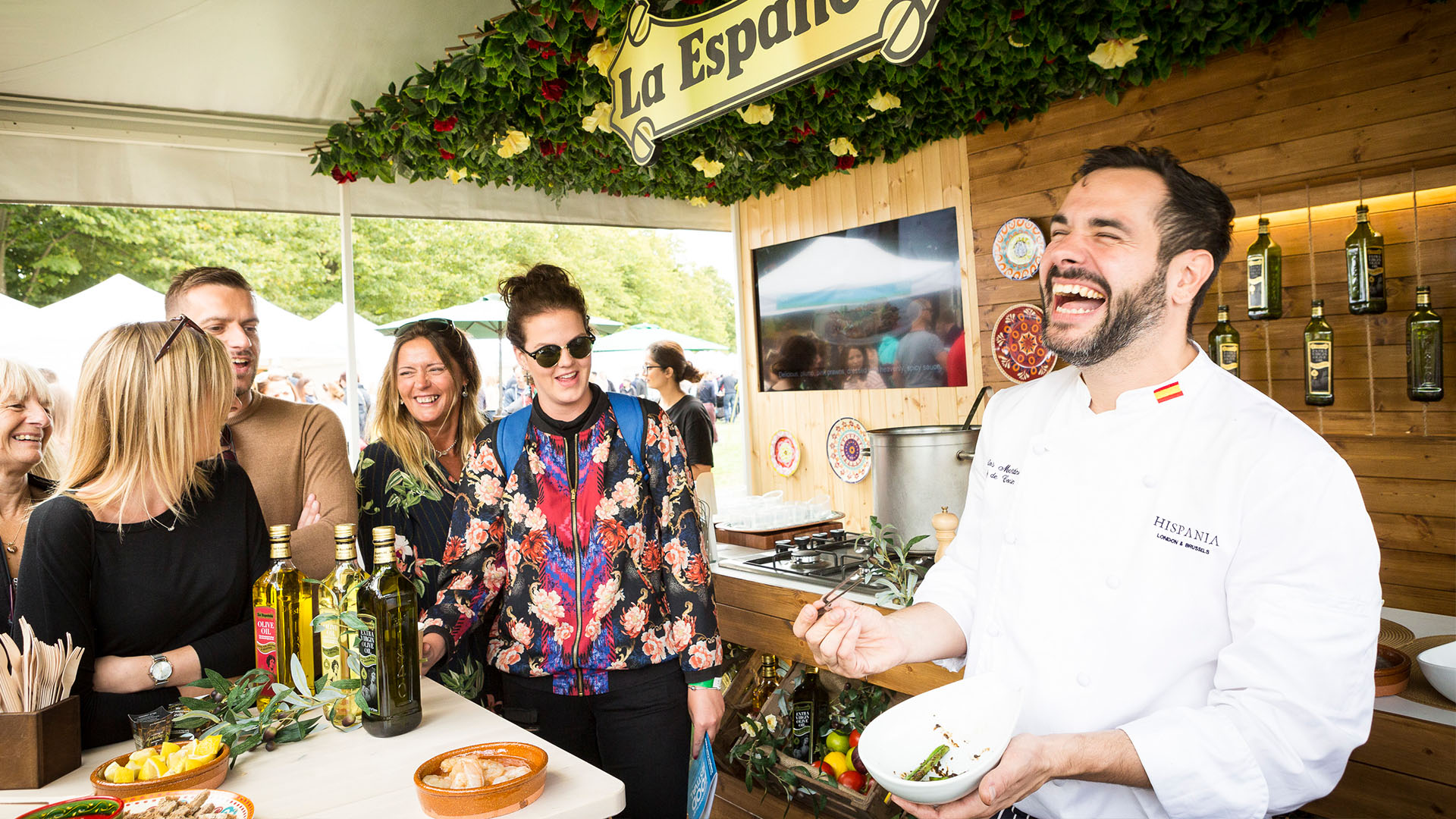 La Espanonola Hispania Hampton Court Food Festival Laughing
